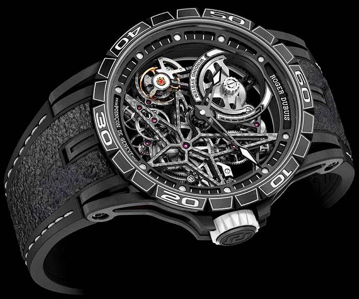 Швейцарские скелетоны Roger Dubuis Excalibur Spider Pirelli