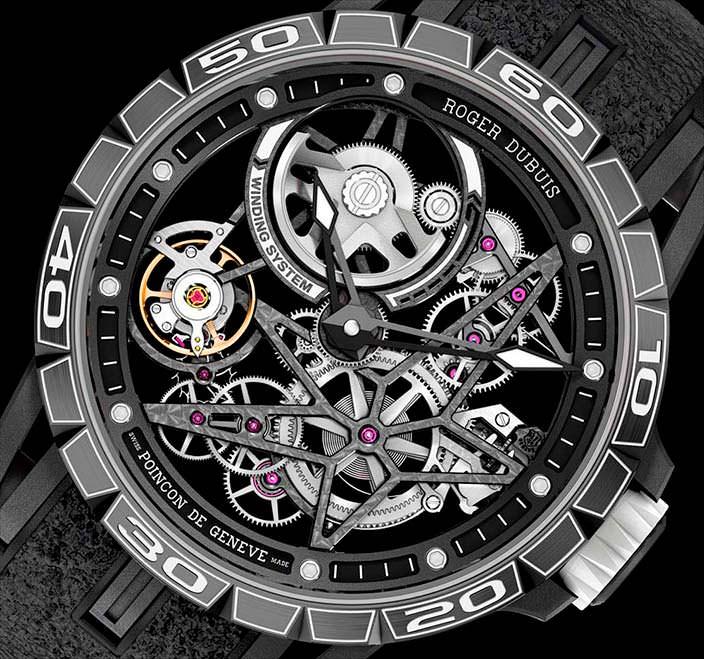 Часы Roger Dubuis Excalibur Spider Pirelli, калибр RD820SQ