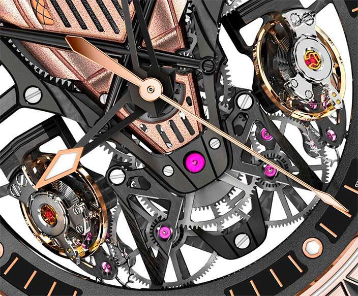 Часы Roger Dubuis Excalibur Aventador S: калибр RD103SQ
