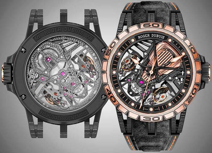 Часы-скелетоны Roger Dubuis Excalibur Aventador S
