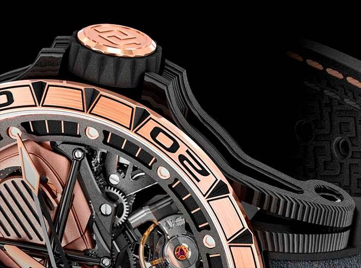 Золотые скелетоны Roger Dubuis Excalibur Aventador S