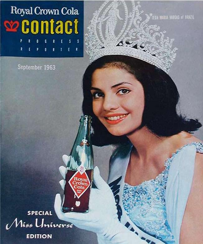 Йеда Мария Варгас в рекламе напитка Crown Cola