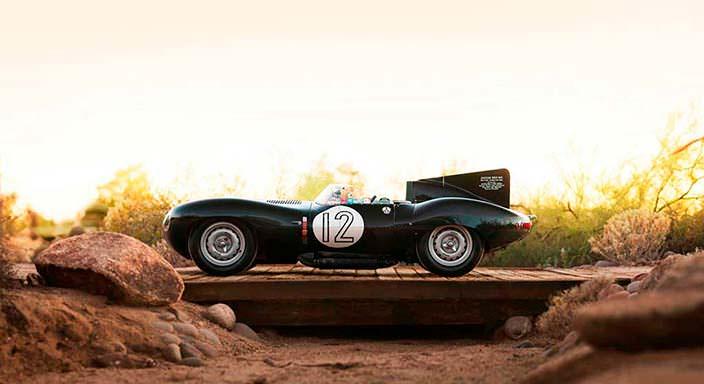 Гоночный Jaguar D-Type 1954 года выпуска