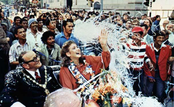 Маргарет Гардинер на параде «Мисс Вселенная 1978» в ЮАР
