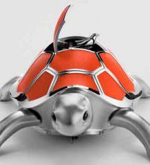 Механическая черепаха с певчей птицей - новая игрушка MB&F