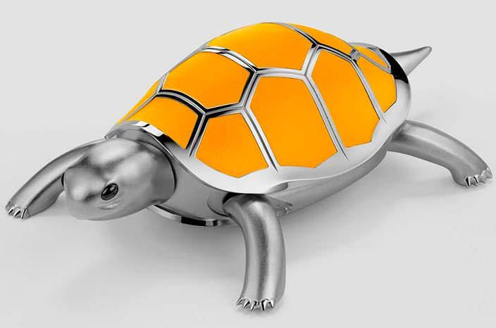 Изготовленная в ручную механическая черепаха от MB&F