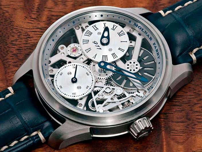 Словацкие часы-скелетоны Molnar Fabry 911