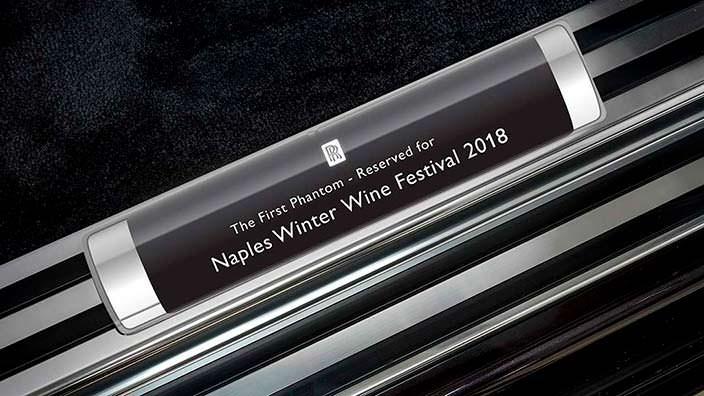 Первый серийный Rolls-Royce Phantom VIII для фестиваля вин