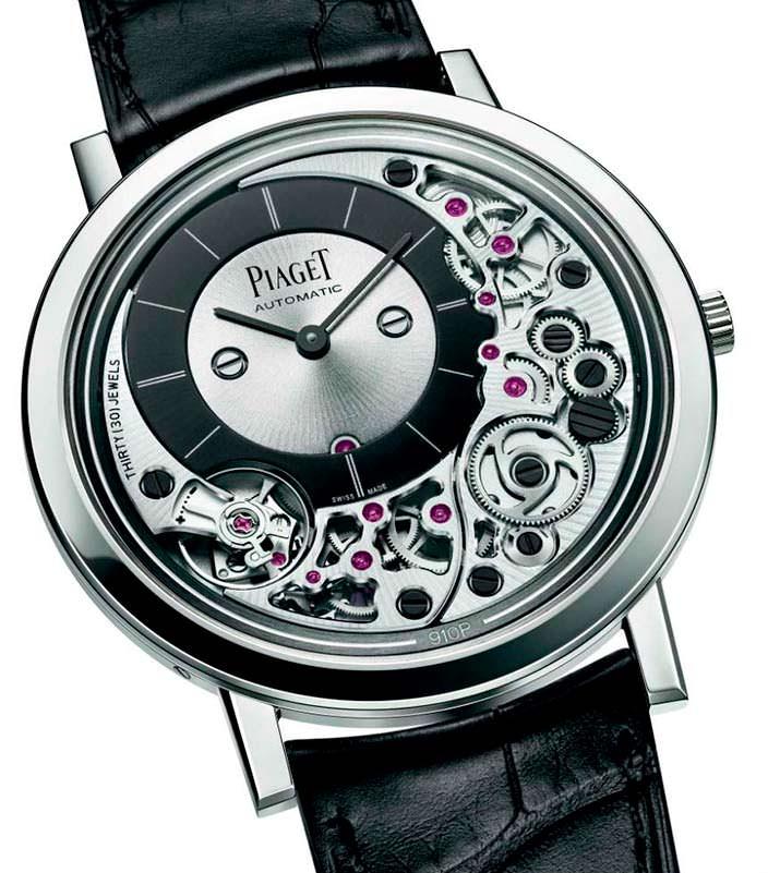 Самые тонкие наручные часы в мире Piaget Altiplano Ultimate 910P