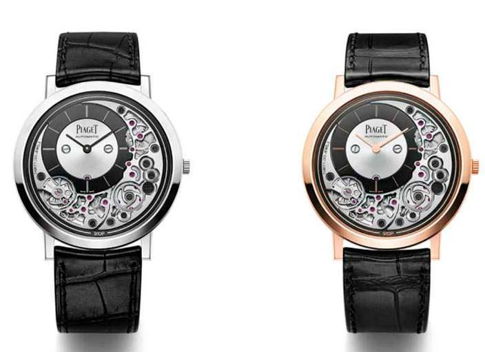 Часы в белом и розовом золоте Piaget Altiplano Ultimate 910P