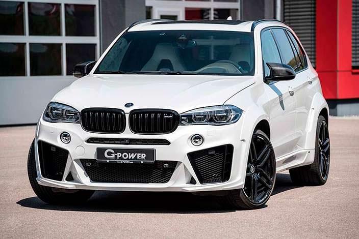 Белая BMW X5 M. Тюнинг от G-Power