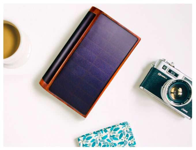 Veiled: деревянный внешний аккумулятор с солнечной панелью