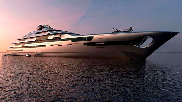 140-метровая яхта с двумя вертолетными площадками