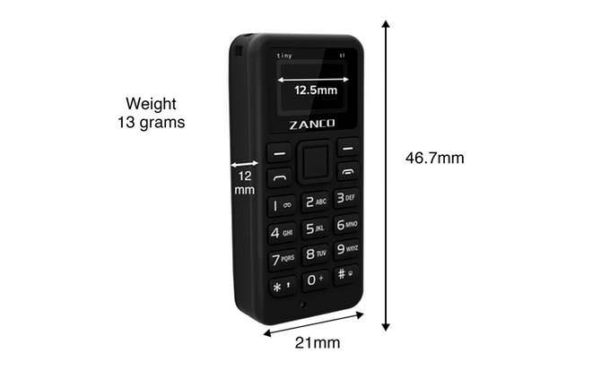 Zanco Tiny T1: габаритные размеры самого маленького телефона