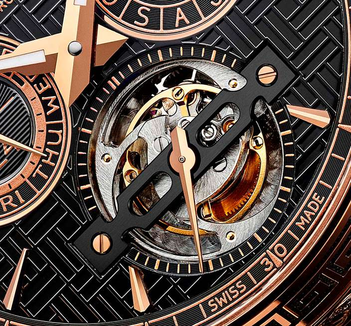 Турбийон на циферблате часов Chopard