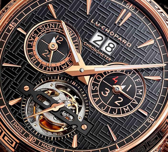 Золотые часы с турбийоном Chopard