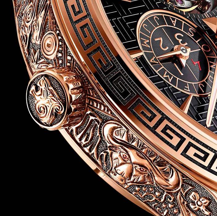 Золотая корона часов Chopard L.U.C Perpetual T