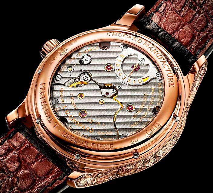 Сапфировая задняя крышка часов Chopard L.U.C Perpetual T
