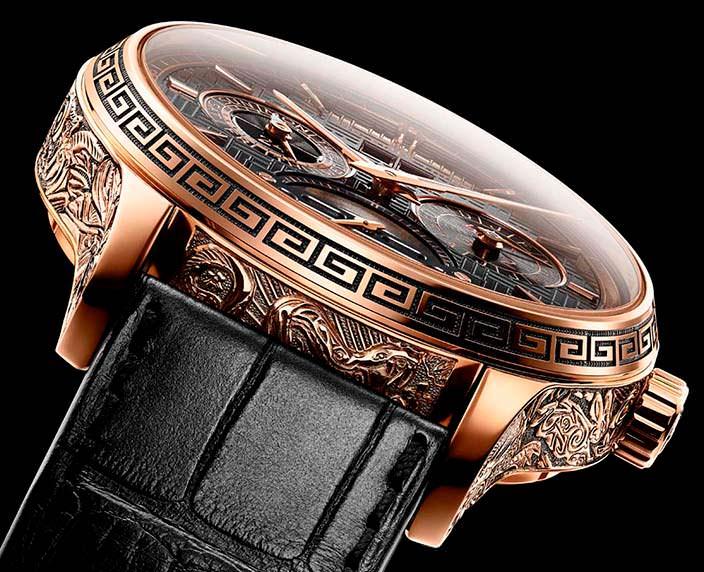 Ремешок из кожи аллигатора часов Chopard L.U.C Perpetual T