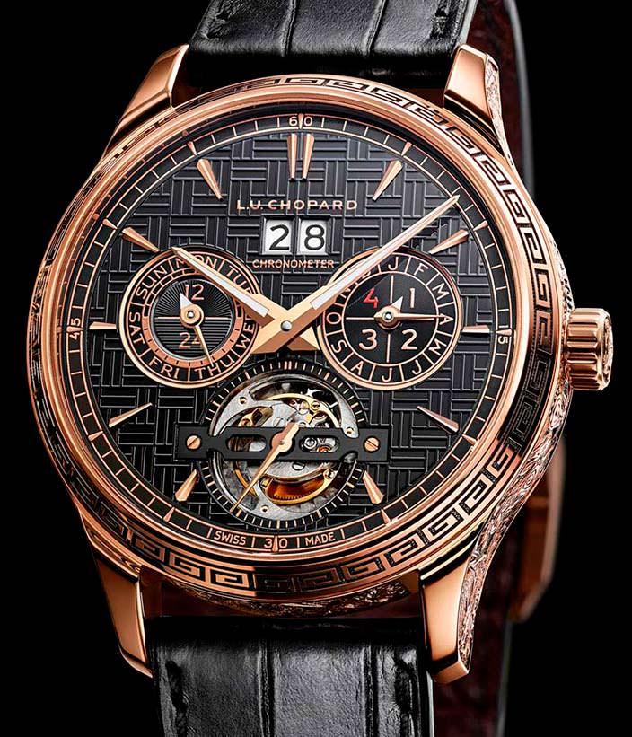 Часы из 18-каратного золота Chopard L.U.C Perpetual T