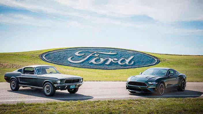 Ford Mustang GT390 1968 года и Ford Mustang Bullitt 2019 года