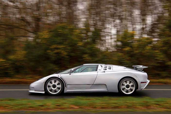 Единственный Bugatti EB110 SS Prototype 1993 года