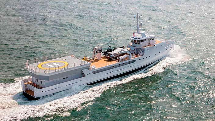 Яхта экспедиционного класса Game Changer от Damen Yacht
