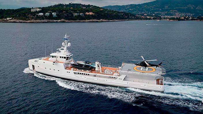 Экспедиционная яхта Game Changer. Длина 69,15-метра