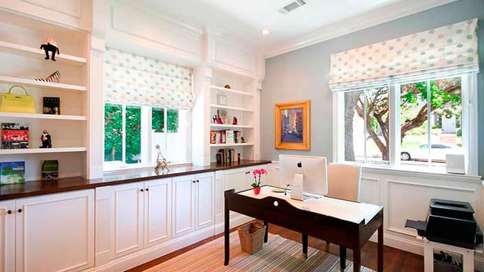 Дизайн домашнего кабинета у Кевина Нилона