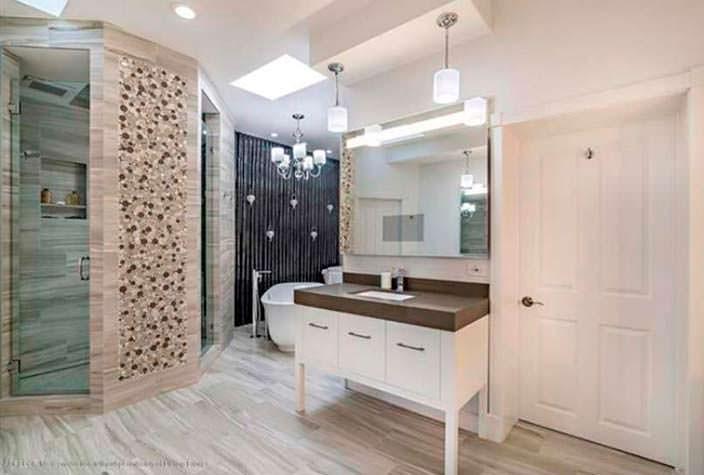 Дизайн ванной комнаты в элитном доме во Флориде