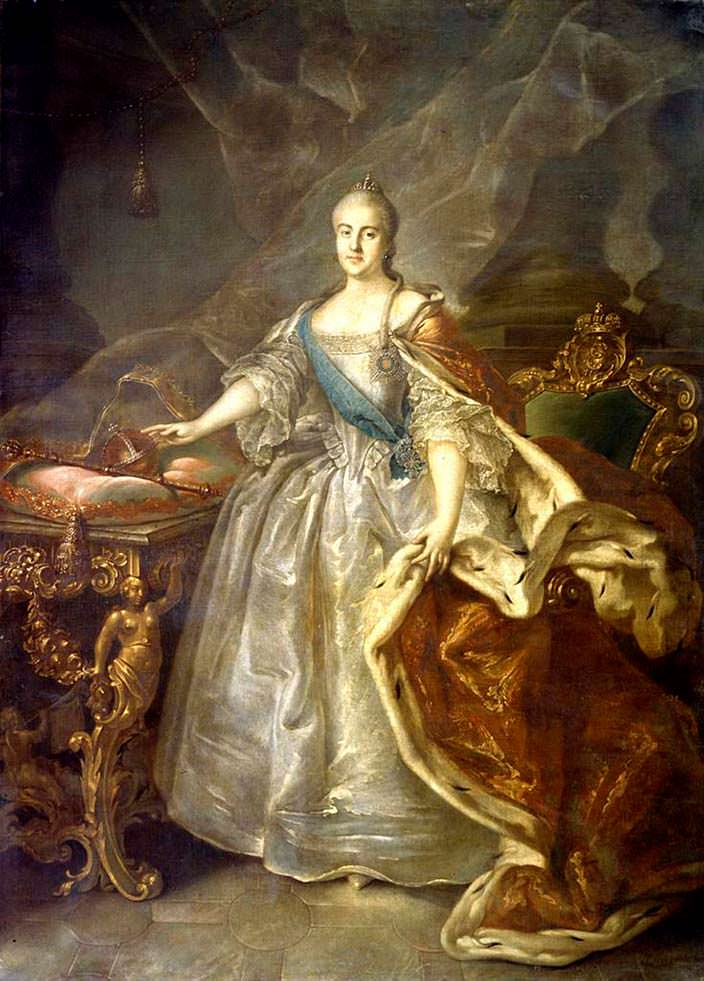 Екатерина II - развратная российская императрица