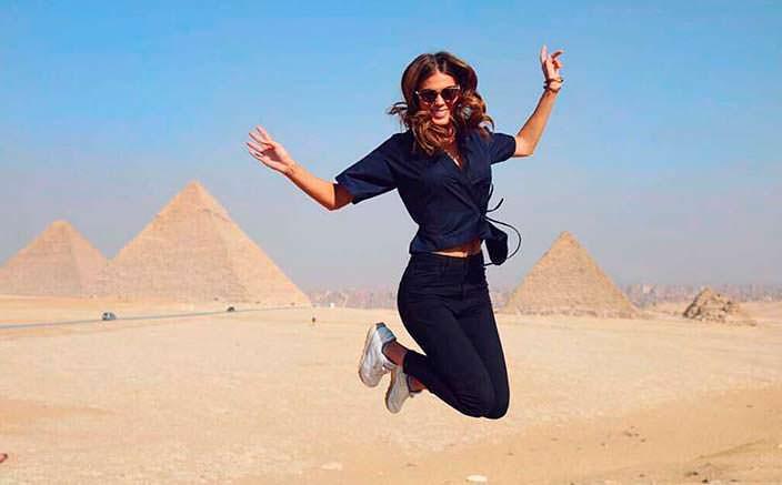 Фото | Ирис Миттенар в Египте
