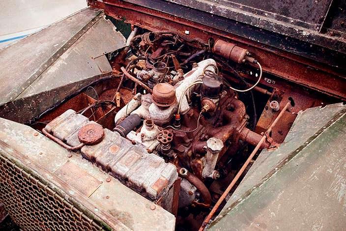 Двигатель 1,6-литра на 50 л.с. мощности в Land Rover Series I