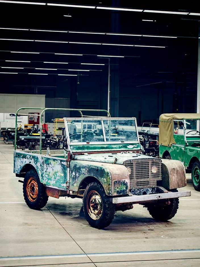 Реставрация Land Rover Series I в честь 70-летия модели