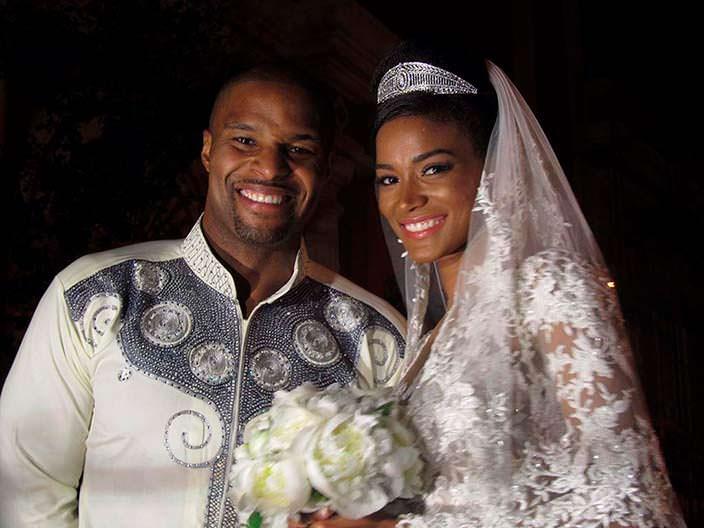 Футболист Оси Уменйиор и его жена Лейла Лопес, Мисс Вселенная 2011