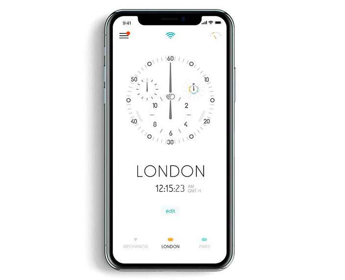 Приложение на смартфон для механических часов Ressence