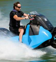 В Gibbs Amphibians создан мотоцикл-амфибия Biski   видео