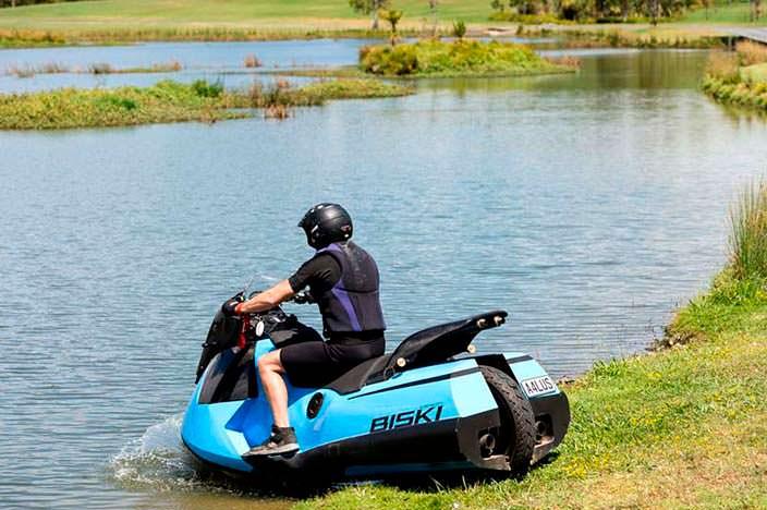 Мотоцикл-трансформер Biski от Gibbs Amphibians
