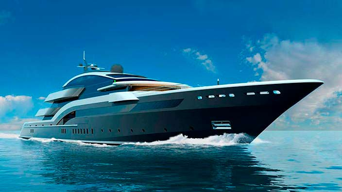 Яхта Oceanco Project Y717. Длина 90 метров