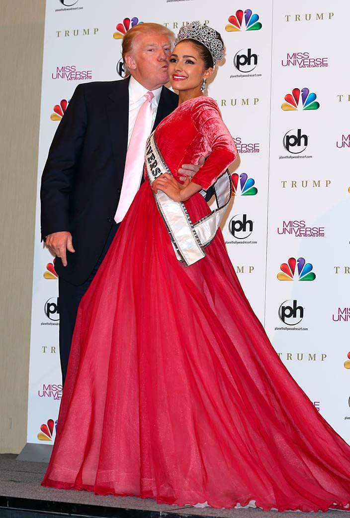 Дональд Трамп и «Мисс Вселенная 2012» Оливия Калпо