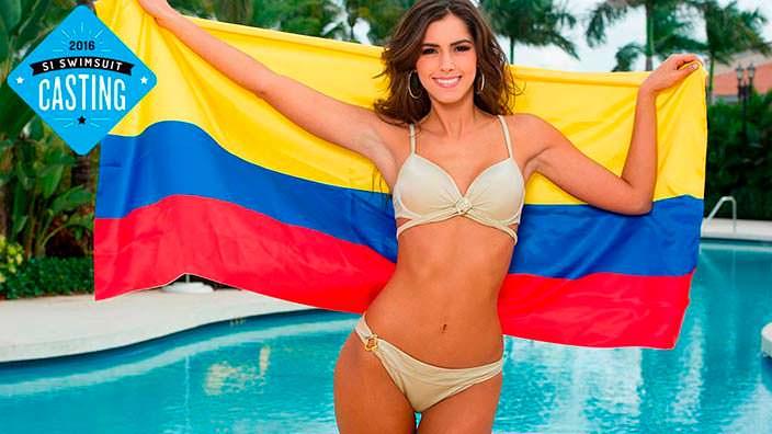Фото | Паулина Вега с флагом Колумбии