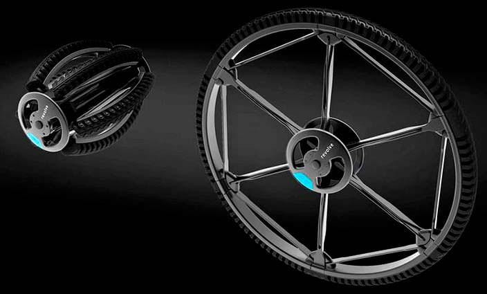 Сложенное и разложенное колесо-трансформер Revolve
