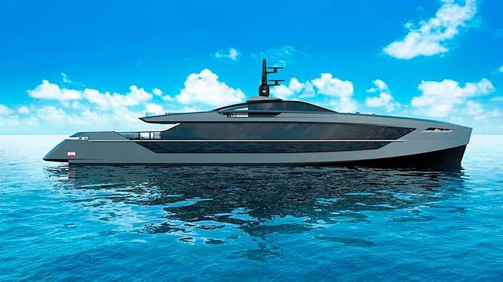 S533 Saetta: яхта длиной 50+ метров от Tankoa Yachts