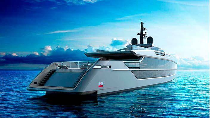 Спортивный дизайн яхты S533 Saetta от Tankoa Yachts