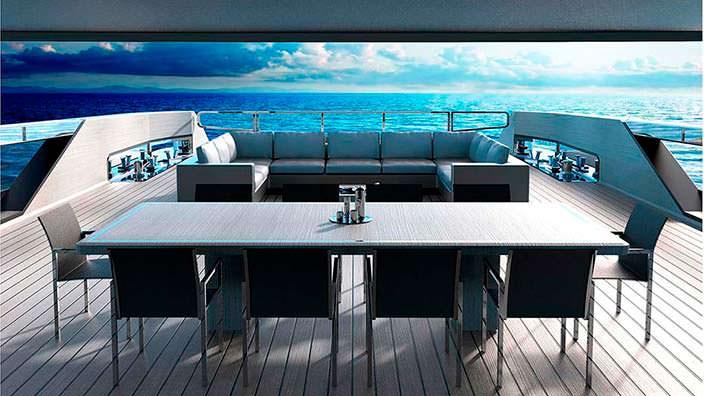 Дизайн интерьера яхты S533 Saetta от Франческо Пашковски