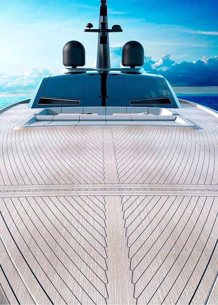 Паркетная палуба яхты S533 Saetta от Франческо Пашковски