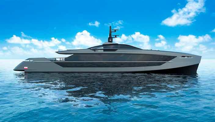 S533 Saetta: новая яхта длиной 50+ метров от Tankoa | фото