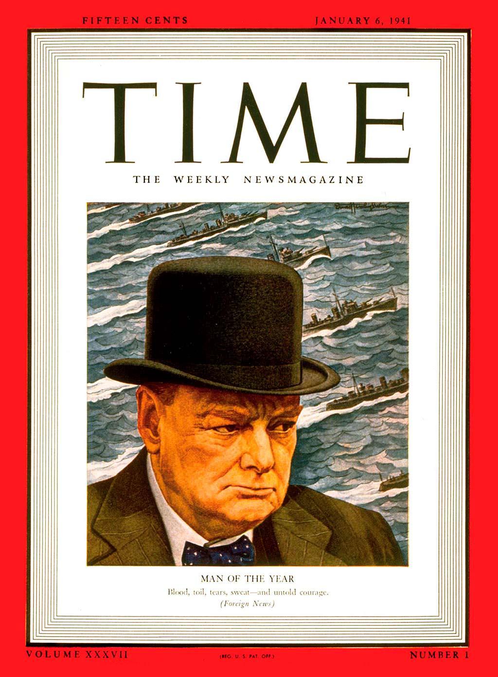 1940 год. Премьер Британии Уинстон Черчилль на обложке Time