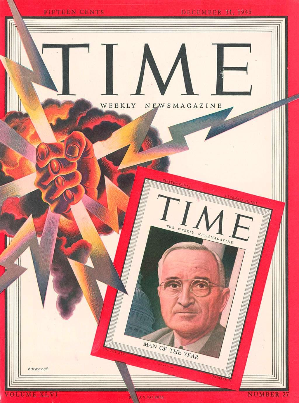1945 год. Президент США Гарри Трумэн на обложке Time