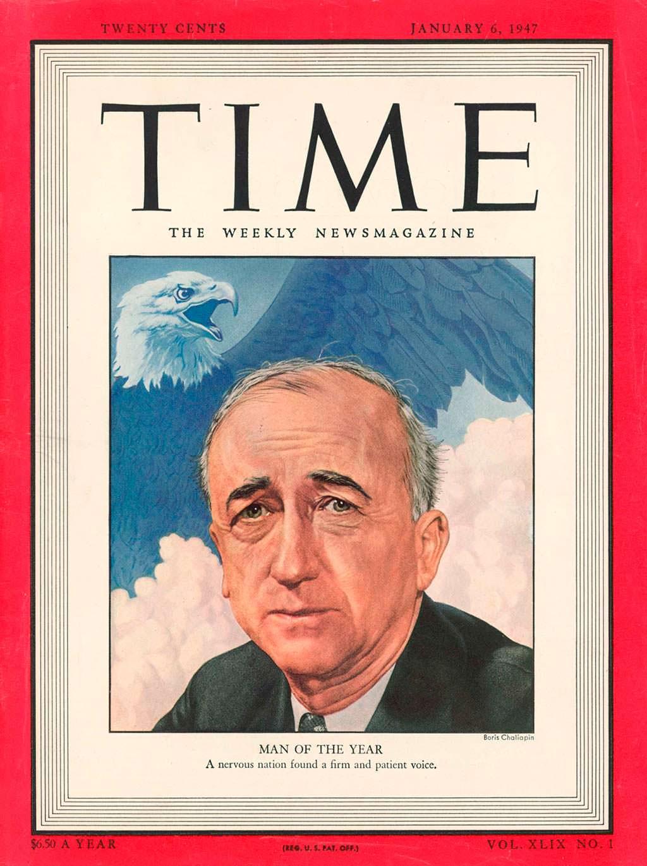 1946 год. Госсекретарь США Джеймс Бирнс на обложке Time